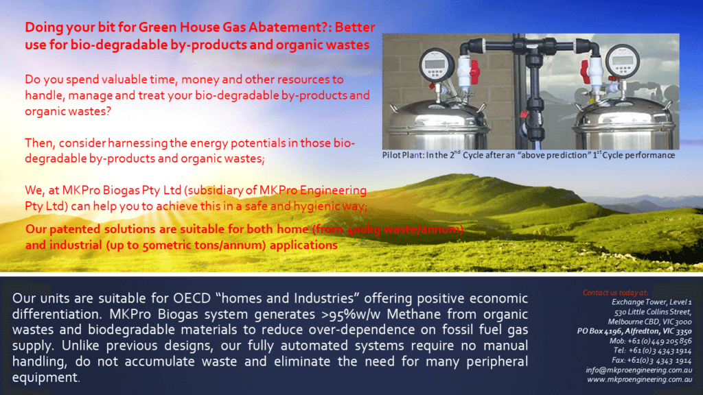Our Signature MKPro Biogas System